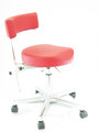 Anatomic Doctor´s work chair, red, made in Germany by Greiner, NEW!