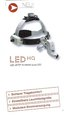 HEINE ML4 LED Headlight on headband Professional L without power supply, NEW