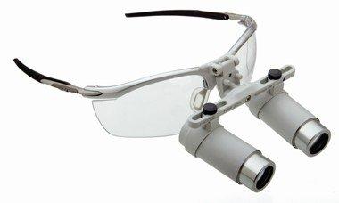 HEINE HRP® Binokularlupen-Set A mit 3,5x Vergrößerung, i-View Lupenträger und HEINE S-Frame® Brillengestell, Artikelnummer: 004048