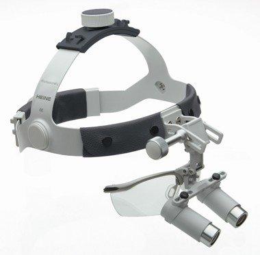 HEINE HRP® Binokularlupen-Set B mit 4x Vergrößerung, i-View Lupenträger, Kopfband Professional L und S-Guard Spritzschutz, Artikelnummer: 004052