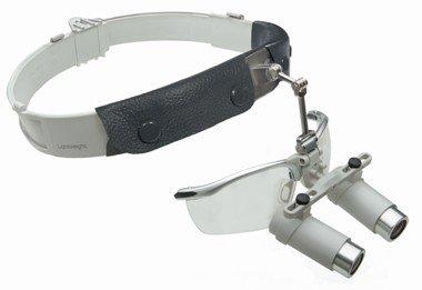 HEINE HRP® Binokularlupen-Set C mit 4x Vergrößerung, Kopfband Lightweight und S-Guard Spritzschutz, Artikelnummer: 004056