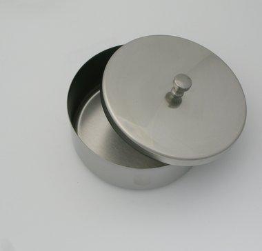 Aufbewahrungsschale Edelstahl rund, ø 120 mm, Höhe 50mm, mit Deckel, made in Germany, Artikelnummer: 000740