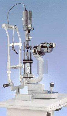 Spaltlampe Haag-Streit Modell 900BQ, gebraucht inkl. Kinnstütze, Artikelnummer: 000044