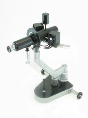 Ophthalmometer Haag-Streit Modell Javal-Schiötz auf Haag-Streit 2-Handbasis,gebraucht, guter Zustand, Artikelnummer: 000088