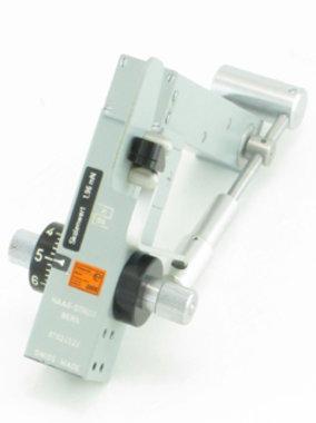 Goldmann Applanations-Tonometer Haag-Streit Modell AT 870, grau, mit Eichung, für Spaltlampen anderer Hersteller, wie NEU!, Artikelnummer: 002254