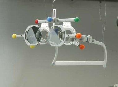 Polarisation-Filter (Analysatoren), Oculus, verstellbar auf 0°/90° für Universalmessbrille Oculus Modell UB5, NEU!, Artikelnummer: 001572