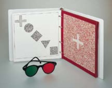 Oculus Stereotest TNO inkl. Rot/Grün-Brille und Ringbuch, Artikelnummer: 017019