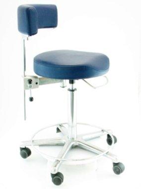 Anatomischer Arztstuhl Greiner, made in Germany, Modell Workstools, dunkelblau mit Fußring, NEU!, Artikelnummer: 017052