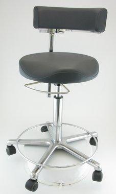 Anatomischer Arztstuhl Greiner, made in Germany, Modell Workstools, schwarz, mit Fußring, NEU!, Artikelnummer: 017056