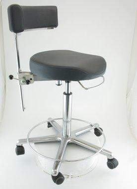 Anatomischer Arztstuhl Greiner, made in Germany, Modell Workstools, dunkelgrau mit Fußring, NEU!, Artikelnummer: 0170576