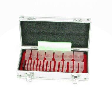 Single prisms 22 pcs. aluminium case, NEW, Item No.: 018259