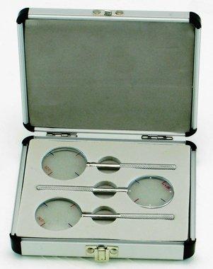 Cross cylinder Set +/- 0,25 / 0,50 / 1,00, Aluminium case, Item No.: 001124