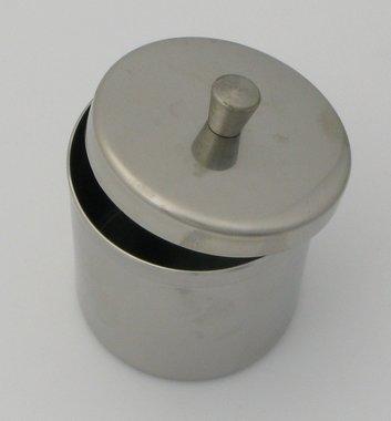 Aufbewahrungsschale Edelstahl rund, ø 50mm, mit Deckel, made in Germany, Artikelnummer: 018335
