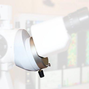 Ergonomischer Schrägeinblick für Bon Spaltlampen,20°, weiß, NEU!, Artikelnummer: 000059