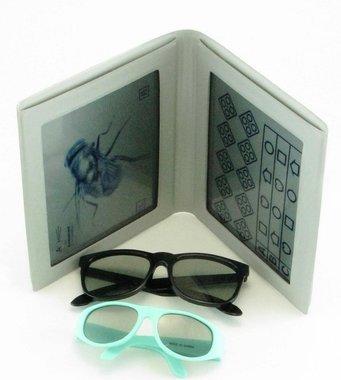 """Stereotest """"Hausfliege"""" (Lea Symbols) by VAC, inkl. Polarisationsbrille und Kinder-Polarisationsbrille, NEU!, Artikelnummer: 012378"""