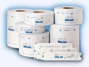 Melag MELAfol Klarsicht-Sterilisierverpackung 1002 für Dampf, 100mm x 200m, mit Behandelungsindikator, Artikelnummer: 012838