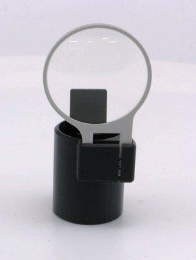 2,5D-Lupe mit Aufsatz für Carl Zeiss - Ophthalmoskopierleuchte, gebraucht, guter Zustand, Artikelnummer: 018729