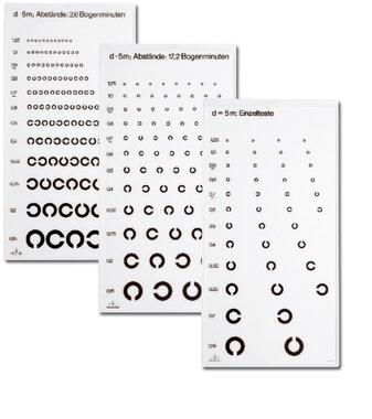 Oculus Sehschärfetest C-Test für die Ferne mit Landoltringen, Artikelnummer: 017044