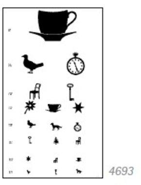 Sehprobentafel Kinderbilder nach Löhlein, Schairer Exklusiv, Plastik eingeschweißt, V=0,2 - 1,0, Artikelnummer: 140420113