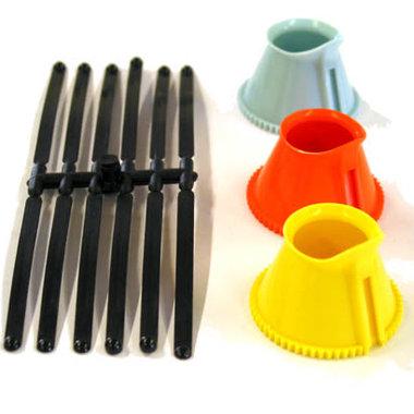 Indentationstrichter nach Eisner, 3-er Set, Kunststoff, für Haag-Streit Dreispiegel Kontaktglas, Artikelnummer: 13092012