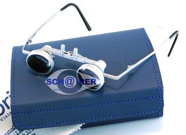 Obrira Lupenbrille RN 420 Silber matt, V=2,5x, Hakenohrbügel, Sattelsteg, NEU, Artikelnummer: 05022013-5