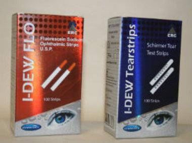 Testpack: 1x I-DEW Schirmer Tränenflüssigkeit-Teststreifen & 1 x I-DEW Fluorescein-Teststreifen, Artikelnummer: 11082014