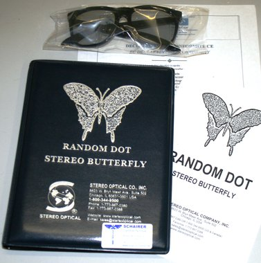 "Stereo Optical Stereotest ""Schmetterling"" mit Polarisationsbrille, Artikelnummer: 017013"