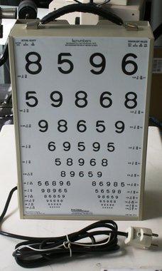 Precision Vision, transportabler Sehprobenkasten, beleuchtet mit LEA-Leseprobe Zahlen, gebraucht, guter Zustand, Artikelnummer: 24042015