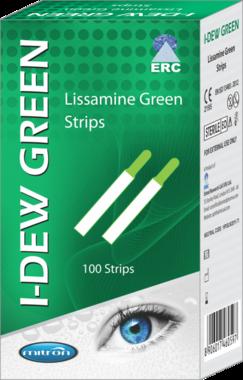 I-DEW Green Lissamine Green Teststreifen, 100 sterile Teststreifen, Artikelnummer: 19122016-2