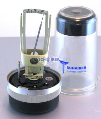 Carl Zeiss Jena hand-held Tonometer acc. Schiötz, incl. orig. Box, pre-owned, fine condition, Item No.: 25092014-4